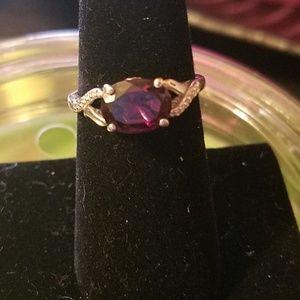 Jewelry - 925 silver with amatyst and diamonds